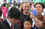 Takahashi e Ibata tentando uma foto, hehehe!