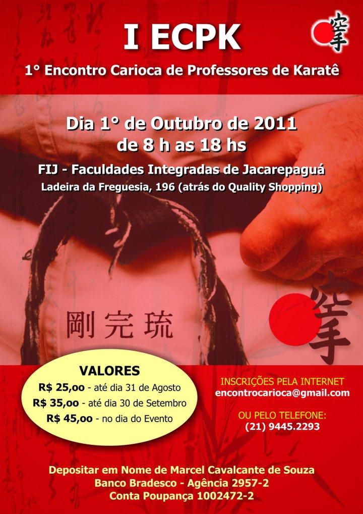 1º  Encontro Carioca de  Professores de Karate