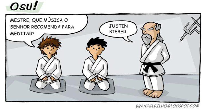 Brandel Filho no pinto karate dojo