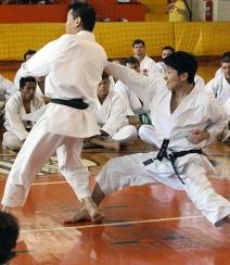 O famoso Kaiten Koshi com uraken
