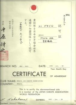 Certificado de filiação