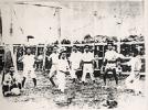 Trainamento no jardim do Dojo de Wakasa da Karate Kenkyu Club  1924