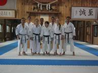 Equipes de Kata do Brasil, no Dojo de Serizawa sensei - Gotemba