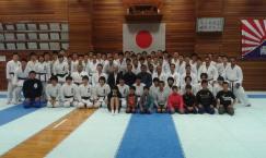 Treino especial com o time de Karate da Univ. Kokushikan horas antes do Mundial...