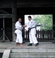 Gravação do Minuto Karate com Tiago Frosi e Pinto san em Tokyo