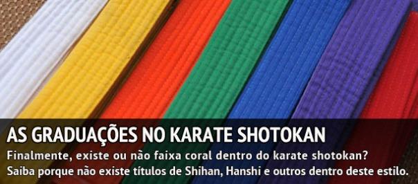 AGORA VAI!   O artigo definitivo sobre as graduações do estilo Shotokan.