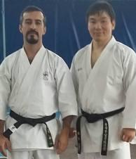 Rodrigo Brito e Kokubun sensei