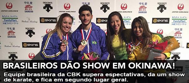 Com apenas 5 atletas, karate brasileiro fica com o segundo lugar geral.