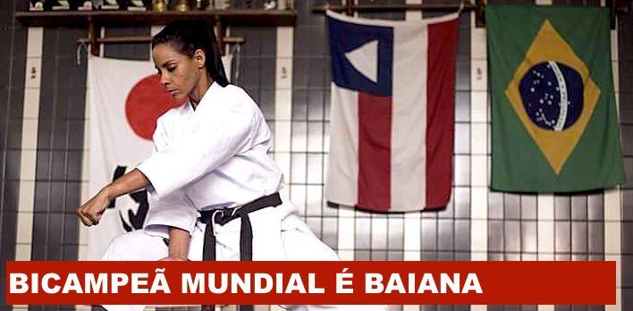 Bahiana é Martinna Rey bi-campeã mundial de karate tradicional