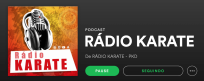 RÁDIO KARATE NO SPOTIFY