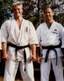 Dolph e sensei Stan Schmidt