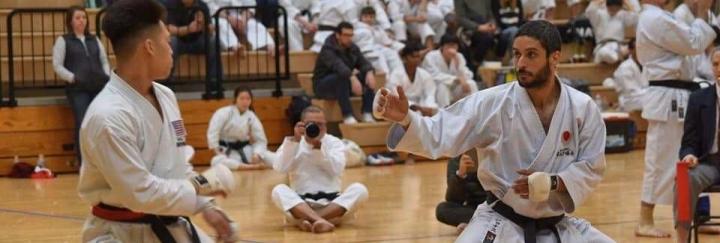 Jonas correia atleta da seleção americana JKA de karate
