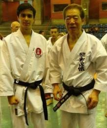 Pedrinho ( editor do PKD ) e Kanazawa sensei